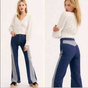 Free People Flip it & Reverse it Flare Jeans